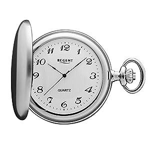 Regent – Taschenuhr – Quarz – Silber – Arabische Ziffern – P21