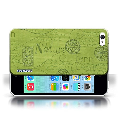 iCHOOSE Print Motif Coque de protection Case / Plastique manchon de telephone Coque pour Apple iPhone 5C / Collection Motif Nature / Bleu Vert