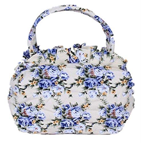 Fortuning's JDS® Elegante casuale di tela borsa borsa delle donne blu