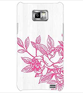 PrintDhaba Flower D-2173 Back Case Cover for SAMSUNG GALAXY S2 (Multi-Coloured)