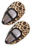 AkinosKIDS Newborn Baby Ballerina Black Leopard Prewalker anitslip Soft Sole feather shoes(9-12 MONTHS)