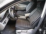 Sitzbezüge k-maniac | Universal Schwarz Grau | Autositzbezüge Set Komplett | Autozubehör Innenraum | Auto Zubehör für Frauen und Männer | No. 3 er 1A | Kfz Tuning | Sitzbezug | Sitzschoner