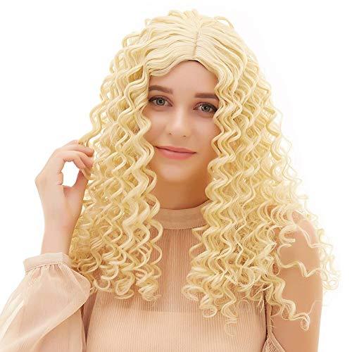 Kostüm Panto - MFFACAI Damen Bienenstock Panto Perücke 60er Jahre Kostüm Cosplay Blonde