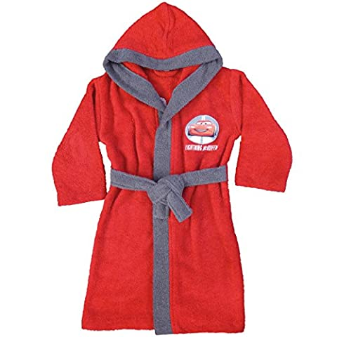 Disney Cars 042785 Bademantel Ready To Go, Baumwolle Frottee, 6/8 Jahre, 110-128 cm