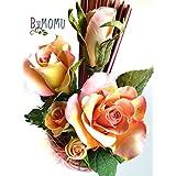 fiori di porcellana fredda miniatura ROSA Bicolore Home Decor regalo- fatto a mano