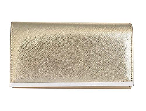 Hautefordiva , Pochette pour femme Bronze clair petit Champagne doré