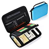 BTSKY EVA Large Pencil Carrying Case - Multifuctional Portable Shockproof Carry Case Pouch Bag Storage Bag for Colored Pencils, Markers, Gel Pens, Stationery and Personal Items (Blue)