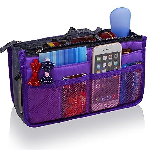 JET-BOND UXB01 Handbag Organizer Liner Purse Insert Inner Tote (Purple)