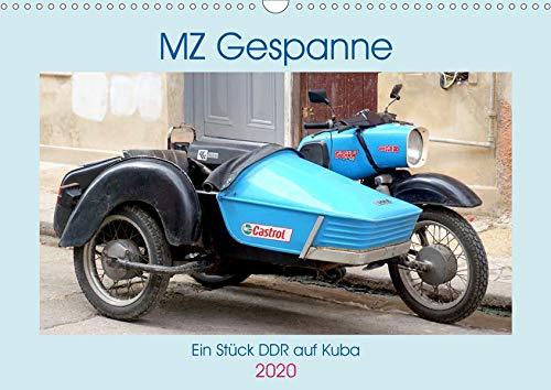 MZ-Gespanne - Ein Stück DDR auf Kuba (Wandkalender 2020 DIN A3 quer): Motorräder der Marke MZ mit Seitenwagen in Kuba (Monatskalender, 14 Seiten ) (CALVENDO Technologie)