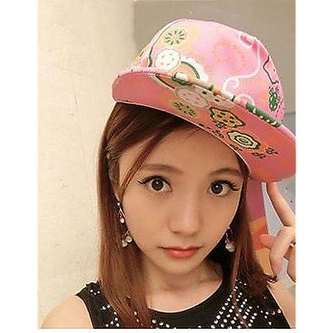 Fiore di moda versione coreana di hip-hop andamento del grande cappello da baseball,Rosa,One-Size