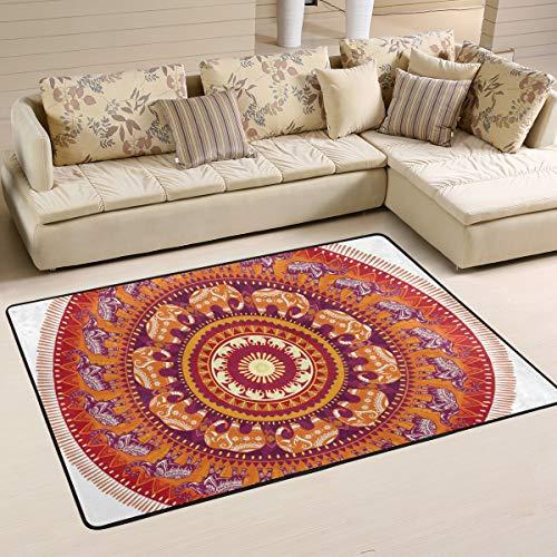 XiangHeFu tapete para el Suelo con diseño de Elefantes Redondos de 3...