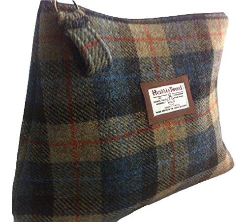 Harris Tweed Edinburgh Kulturbeutel für Herren im MacKenzie-Schottenmuster, handgefertigt,...
