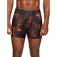 Under Armour, O-Series 6In Boxerjock 2Pk Novelty, Boxer, Uomo, Arancione (Magma Orange/Acciaio Light Heather), L