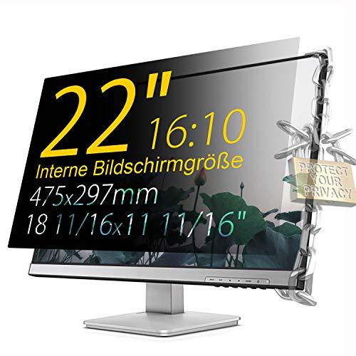 Xianan Schutz der Privatsphäre - 22 zoll 16:10 Seitenverhältnis Blickschutzfilter Blickschutzfolie Bildschirmschutz for Widescreen Computer Monitor