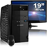 "Leises Multimedia- & Gaming PC-Komplettpaket AGANDO campo 5324a4   AMD A4-5300 2x 3.4GHz   8GB RAM   AMD Radeon R7 240 2GB   1000GB HDD   DVD-RW   Gigabit-LAN   7.1 Sound   47cm (19"") TFT   Tastatur   Maus   36 Monate Garantie"