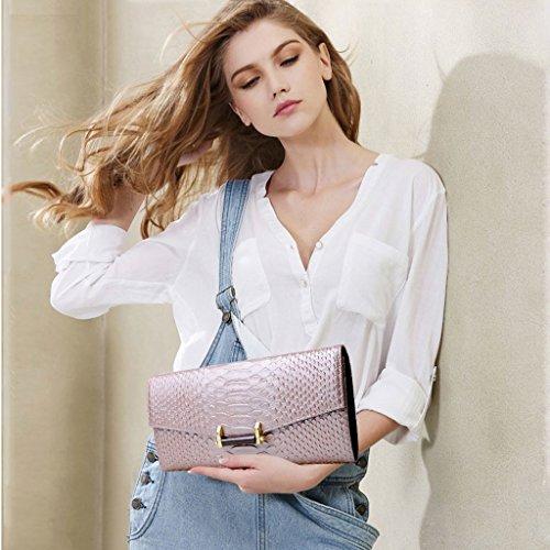 Home Monopoly Sacchetto di mano femminile del sacchetto di mano femminile del sacchetto di mano del banchetto del partito di modo delle signore delle borse ( Colore : Rosa ) Rosa