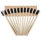 Progoco Brosse à dents en bambou Poils souples et brosses à dents en bois numérotées individuellement | 100% naturelles, végétaliennes, biodégradables, recyclables et non plastique Pack de 12