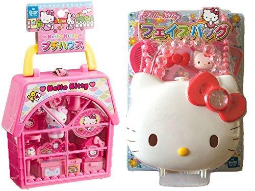 Hello Kitty Sets - Petite House und Geldbörse mit Riemen und Zubehör, 2 Stück (Kitty-schuhe Hello Für Erwachsene)