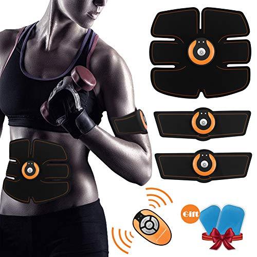 WINGLESCOUT Electroestimulador Muscular, Cinturon Abdominal Electroestimulador Abdominales/Brazo/Piernas/Cintura Entrenador Muscular para Hombre Mujer