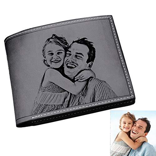 bas prix a391c 69de9 Personnalisé Photo Portefeuille en Cuir Bourse Carte de Crédit Visite  Cadeau Saint Valentin pour Homme