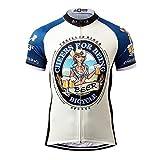 Thriller Rider Sports® Herren Cheers for Being Blue Outdoor Sport MTB Fahrradbekleidung Fahrradtrikot Radsport Kurzarmtrikot Radfahren Trikot 4X-Large