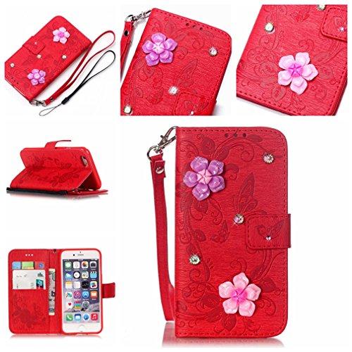 Mk Shop Limited Étui en PU Cuir pour Apple iPhone 6/6S(4.7 pouces) Housse Coque Pochette Portefeuille de Protection Case Cas Cuir Etui Pour Apple iPhone 6/6S Multi-couleur 2