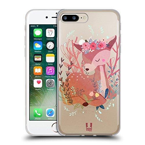 Head Case Designs Waschbär Tiere Des Waldes Soft Gel Hülle für Apple iPhone 5 / 5s / SE Hirsch