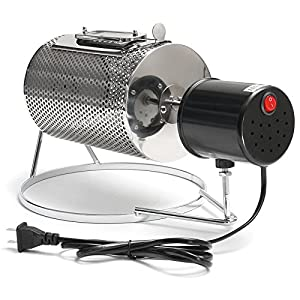 Tutoy 110V Electric Stainless Steel Coffee Roaster Roller Baker Home Bean Baking Roasting Machine