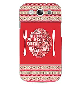 PrintDhaba Typography D-4149 Back Case Cover for SAMSUNG GALAXY S3 (Multi-Coloured)