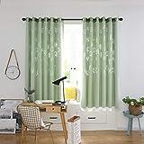 TianranRT 1 PCS Brief Tüll Tür Fenster Vorhang Drapieren Verkleidung Gardine Schal Volants (Grün)