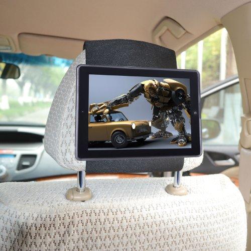 Kfz Halterung iPad 4 / iPad 3 / iPad 2 Schnellverschluss Auto Kopfstützenhalterung - Schwarz von TFY