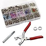 200Sets 9,5mm Metall Ring Button Druckknöpfe Nähen Craft Verschluss Snap Zange Craft Werkzeug