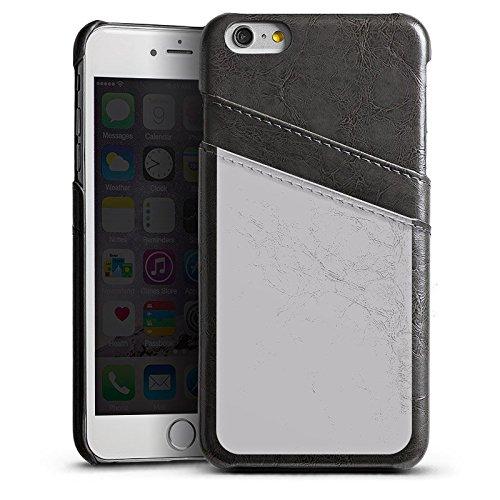 Apple iPhone 5s Housse étui coque protection Graphite Gris Gris Étui en cuir gris