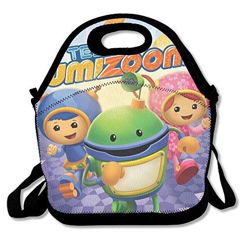 dsybtv bolsa para el almuerzo–bolsa para el almuerzo de equipo Umizoomi caja de almuerzo para mujeres hombres niños con correa ajustable