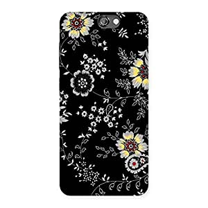 NEO WORLD Premium Classic Flower Back Case Cover for HTC One A9