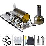 Kalawen Glasschneider für Flaschen Edelstahl Flaschenschneider Glasschneider Bottle Cutter Kit zur DIY Flaschen Pflanzmaschinen Kronleuchter aus Glas Kerzenständer