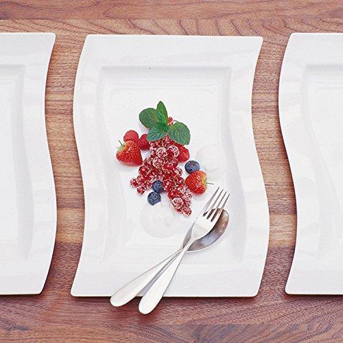 Villeroy & Boch NewWave Gourmet-Set / Tellerset in modernem Design aus weißem Premium Porzellan / Ergänzung zu NewWave Tafelservice / spülmaschinenfest / 1 x Set (4-teilig) - 4