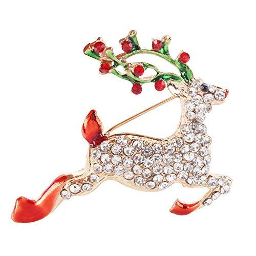 Mali Natale Diamante personalità Spilla Bello Cervi di Natale Abbigliamento Accessori