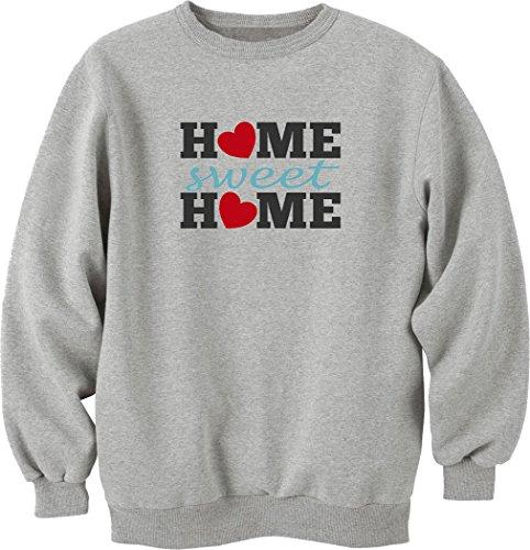 Home sweet home sweatshirt pullover grau (L) (Unkraut-home)
