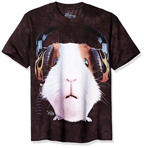 The Mountain Maglietta DJ Guinea Pig Big Face Pets Bambino Unisex L