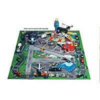 Daron Worldwide Trading HR2039 Large Airport Playmat - Felt - 41.25 X 31.5 Inches