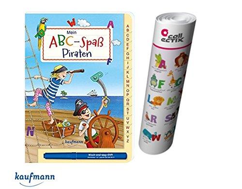 Kaufmann ABC-Spaß Piraten + ABC Buchstaben Lernen - Poster mit Tieren
