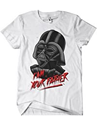 Star wars darth vader t shirt force awakens funny movie t shirt I_am_your_father_white
