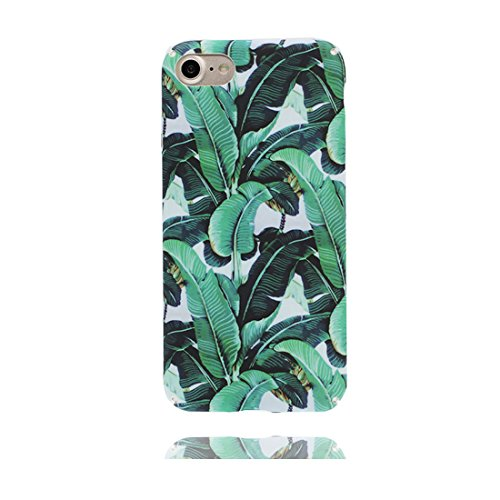 iPhone 6 Custodia, iPhone 6/6S Copertura 4.7, | TPU durevole Case Per le ragazze delle signore |, Gomma morbida del gel/ Cover / evidente/pesce Foglie di banana