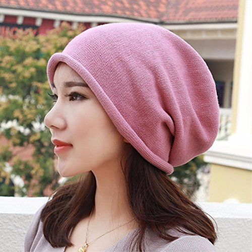 LIUXINDA-MZ Pure cotton hat, knitted hat, shaved head scarf cap and pregnant ear cap for men and women in spring,gules
