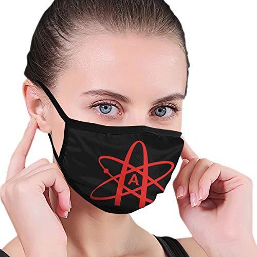 Paoseven Unisex Mundmaske Atheist Atom Symbol Anti-Staub-Maske aus Baumwolle für Damen und Herren Gr. Einheitsgröße, Schwarz