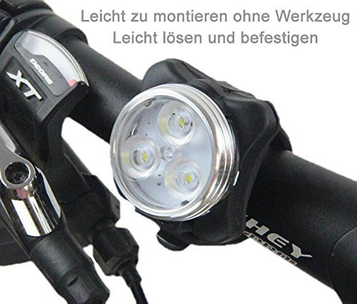 AMANKA Luci per Bicicletta, Set Luce Bici LED Light con 5V/2A