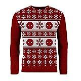 London Co. Deadpool Red Unisex Christmas Knitted Jumper