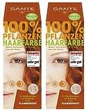 Sante Pflanzenhaarfarbe Haarfarbe im Doppelpack flammenrot 2 x 100 g im Set für ein tolles Farberlebnis