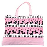 Black cat waltz to dance on (quilting) Kids Piano lessons bag of handmade sense (pink) made in Japan N0222600 (japan import)